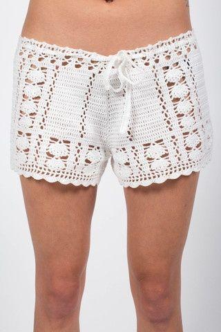 Byron Crochet Shorts - Ivory | Playa crochet | Pinterest | Badeanzug ...