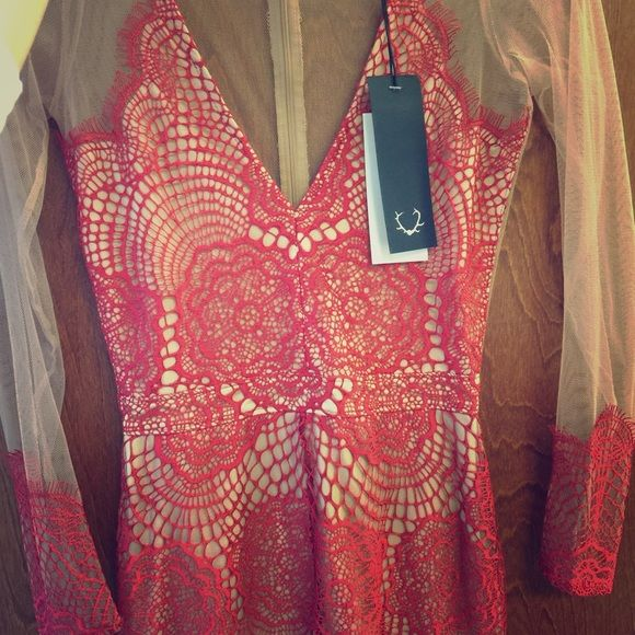 RESERVED For Love and Lemons Red Antigua Dress For Love and Lemons Red Antigua Dress- once worn for only three hours, very gently used- basically new. Size small. For Love and Lemons Dresses