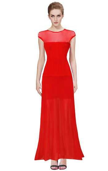 Herve Leger Top Sale Pink Odette Annable Long Bandage Dress