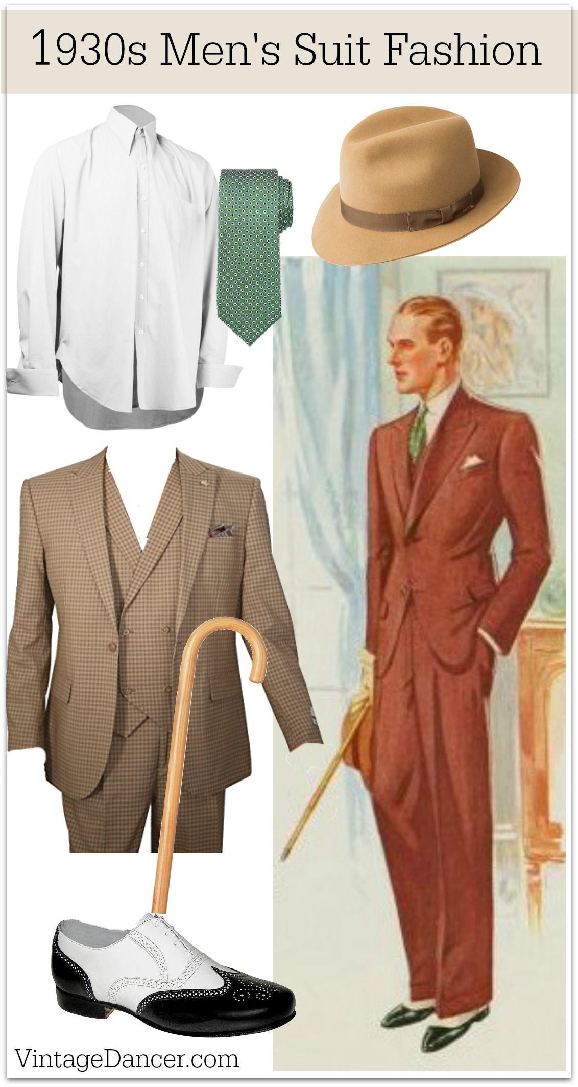 1930s Menswear Clothing Ideas