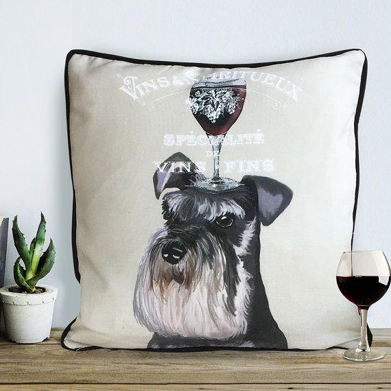Schnauzer gifts wine gift for wine lover miniature schnauzer