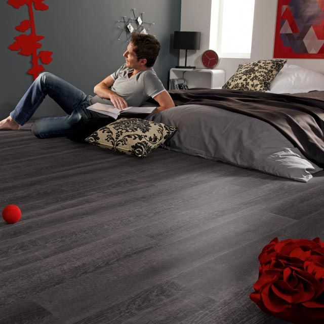 lame pvc noir tarkett starflor smoked 15 2 x 91 4 cm essayer et projet. Black Bedroom Furniture Sets. Home Design Ideas
