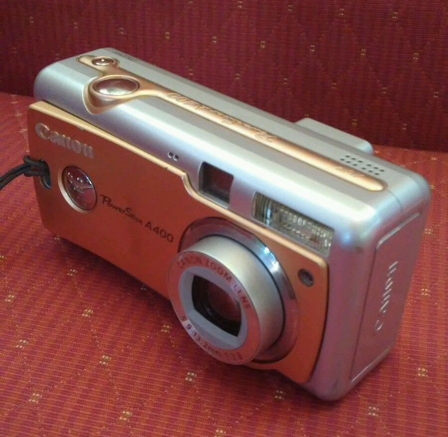 Canon Powershot A400 Gold S Digital Camera 3 2 Mp Bundle 512 Mb Usb Cable Fujifilm Instax Mini Instax Mini Powershot