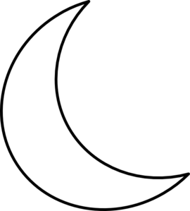 Moon crescent outline for tattoo beauty pinterest for Crescent moon coloring page