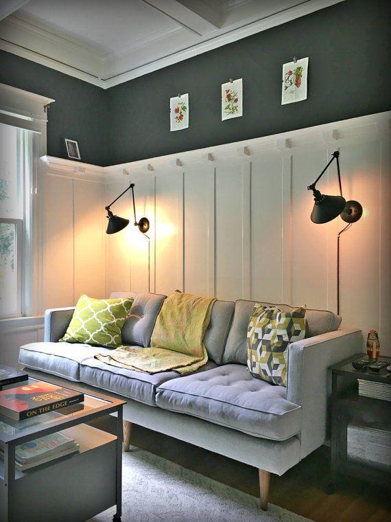 Plug In Swinging Adjustable Wall Light Industrial Sconce Etsy