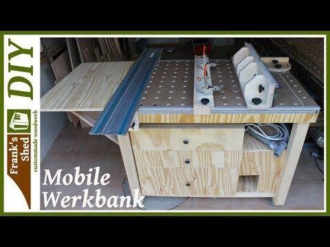 mobile werkbank selber bauen werkstatt einrichten tischkreiss ge fr stisch franks shed. Black Bedroom Furniture Sets. Home Design Ideas