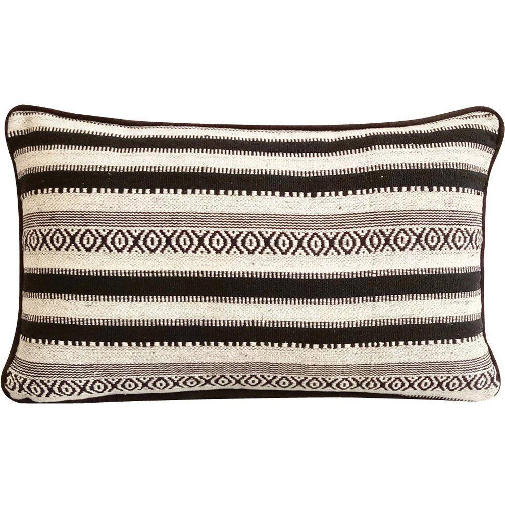 Decorative Oblong Lumbar Rectangle Pillow Covers Accent Etsy Woven Pillows Rectangle Pillow Decorative Lumbar Pillows