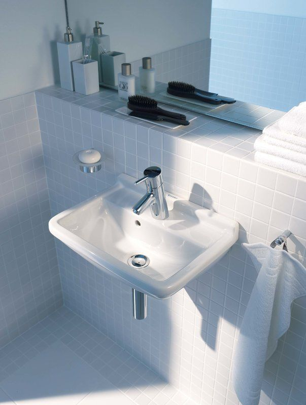 Starck 3 Ceramic Vitreous China Specialty Wall Mount Bathroom Sink With Overflow