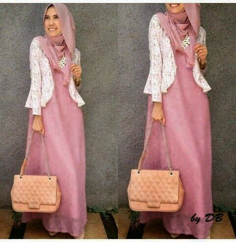 Style busana muslim terbaru long dress