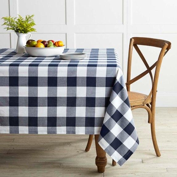 Buffalo Plaid Tablecloth | Williams Sonoma