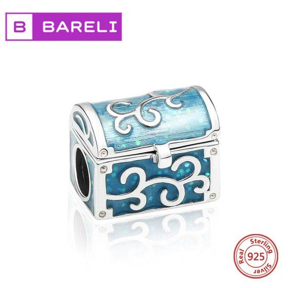 Européenne Argent Sterling 925 Treasure Chest Zircon Charm Bead Jewelry for Women