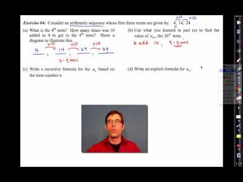 Common Core Algebra Iunit 4lesson 13ithmetic Sequences By