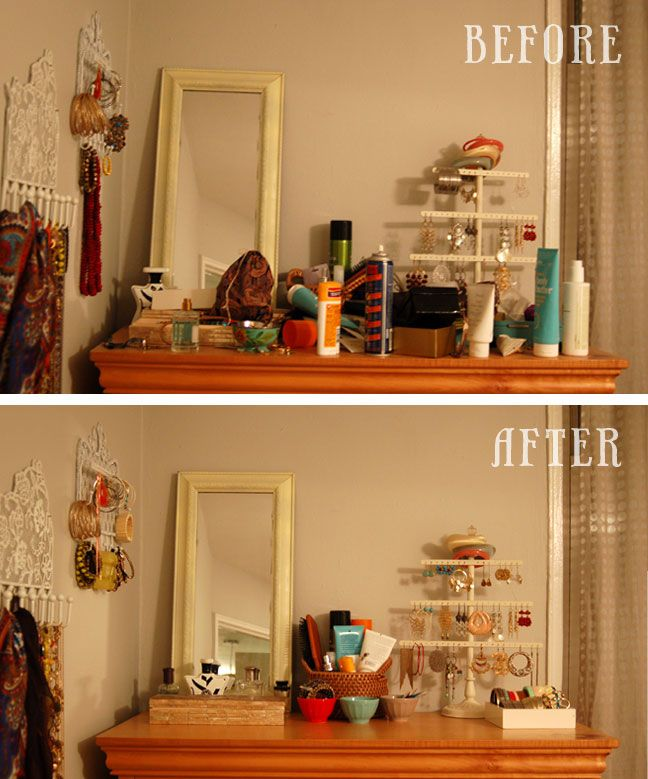 a simple declutter idea for your dresser bedroom