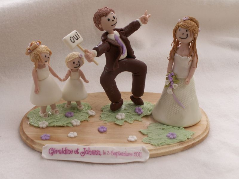 So Cute For A Blended Family Cake Topper Figurines Pour Piece Montee De Mariage