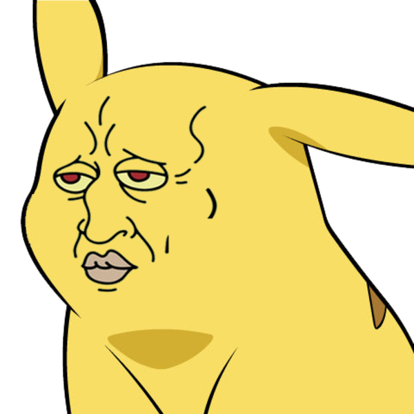 Pikachu With The Face Of Squidward Give Pikachu A Face Pikachu Easy Drawings Meme Faces