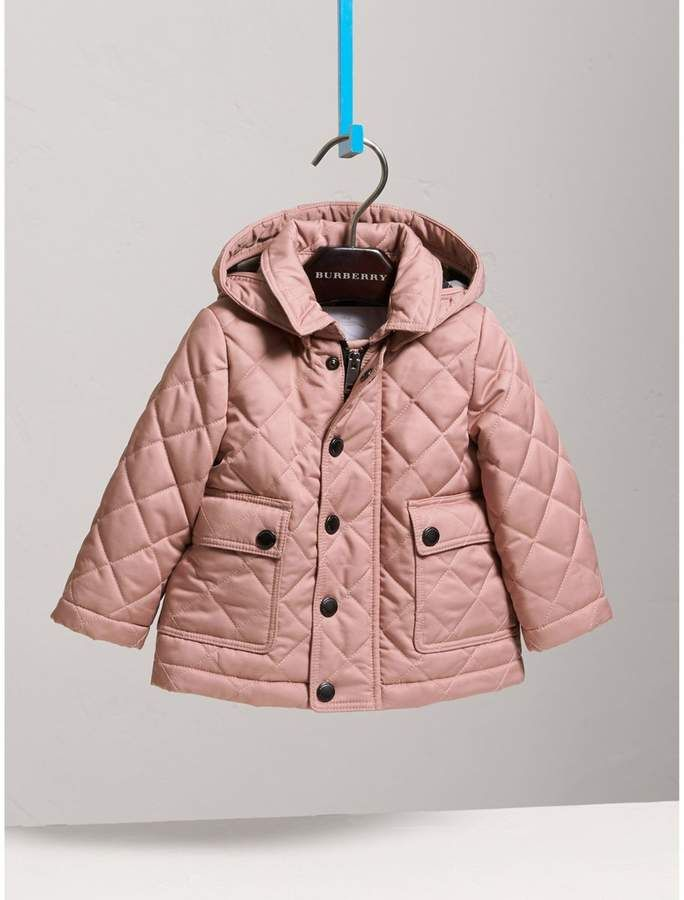 Burberry Detachable Hood Quilted Jacket Quilted Jacket Little Girls Coats Jackets