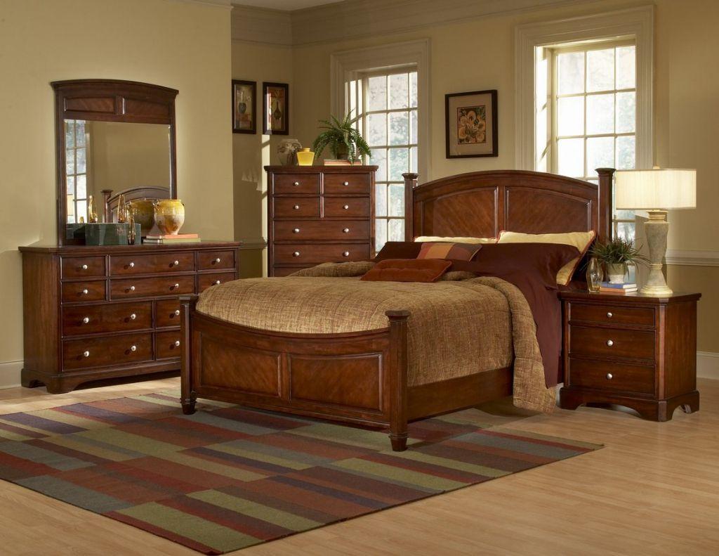 Solid cherry wood bedroom furniture interior bedroom design