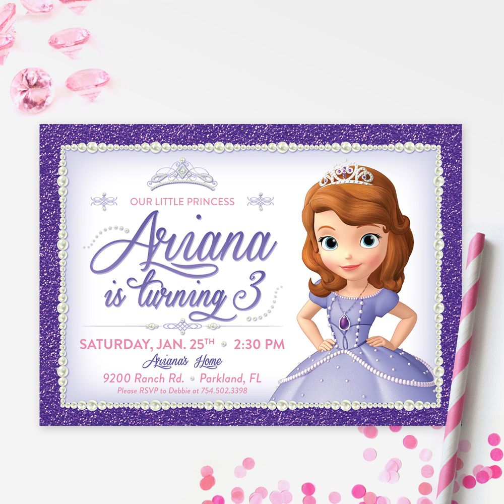 Sofia The First Printable Birthday Invitation | DIY Birthday Party ...