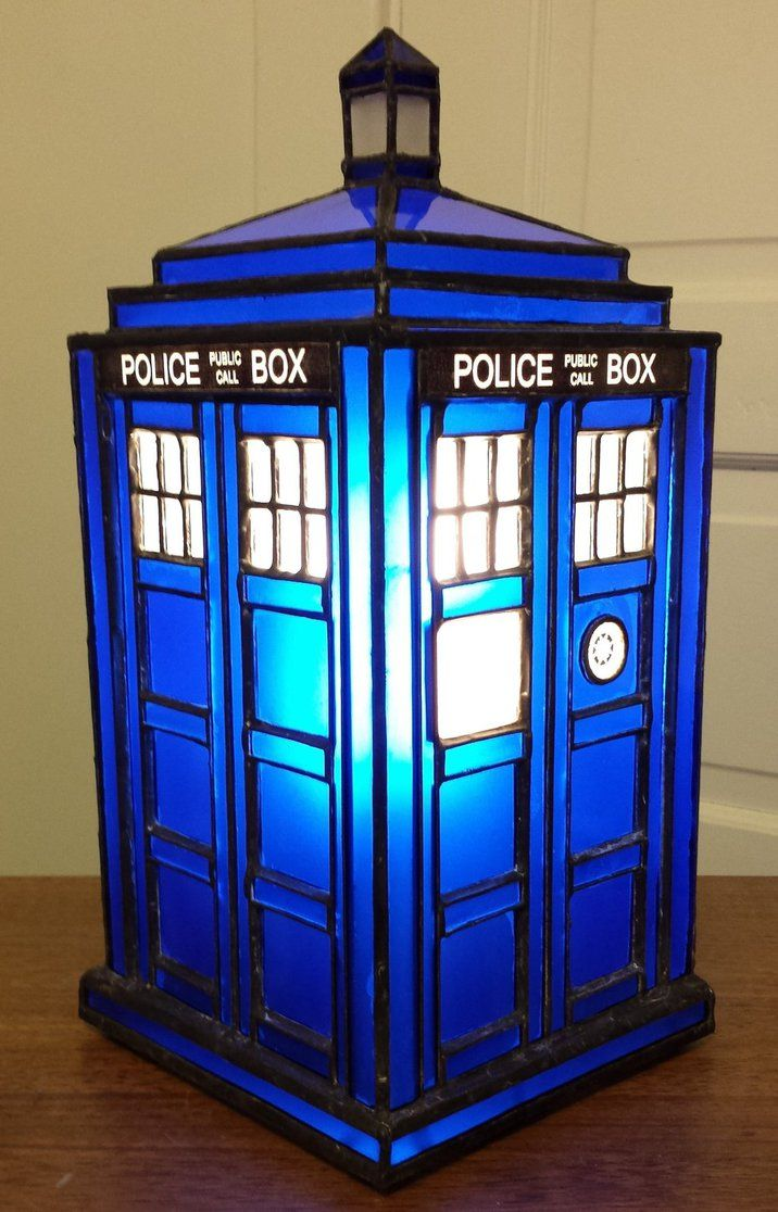 My stained glass Tardis. This is the 3rd Tardis I've made and ...