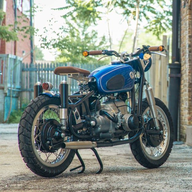 Custom BMW R50 Custom bike based on 1958 BMW R50 by Analog Motorcycles. This Custom BMW R50 is named BMW R50 Blue Baron. 1958 BMW R50 arrived in a pretty bad state. Guys a analog restored this 1958 BMW R50 from ground up. BMW R50 was stripped down to frame and everything else was custom built. BMW R50 Blue Baron features. 1958 BMW R50 Frame restored, Custom aluminum rims, Shinko 705 Tires, Engine restored by Cycle Works, BMW R50 Custom Headlight, BMW R50 Custom tail light, BMW R50 Custom…
