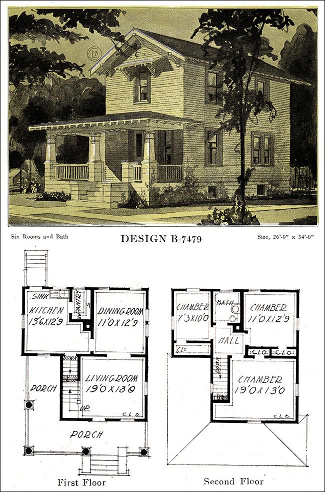 1918 Artistic Craftsman Influenced Wing And Gable House Plan C L Bowes Of Chicago Gable House House Plans With Pictures Cottage House Plans
