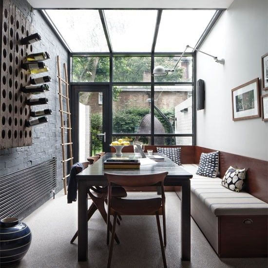 Industrial Style Dining Room Conservatory