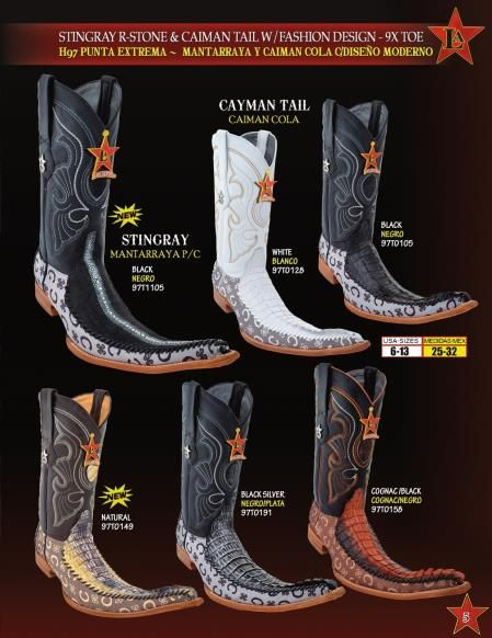 Wild West Men/'s 9X-Toe Ostrich Leg Cowboy Western Boots Different Colors
