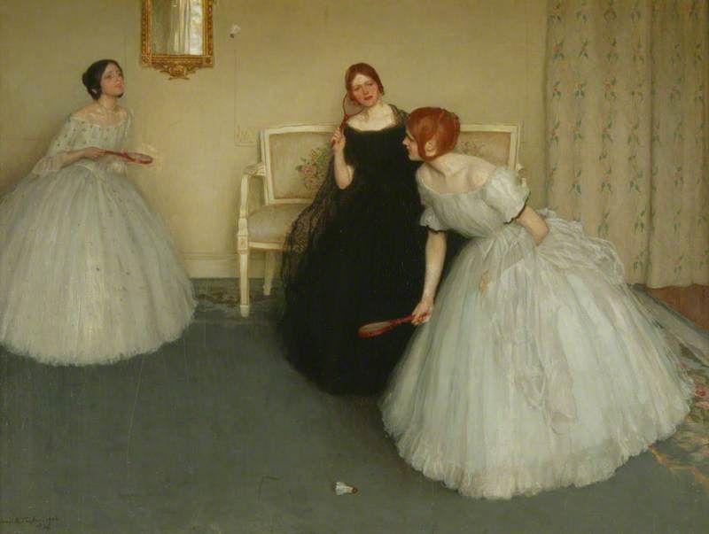 Battledore  Leonard Campbell Taylor (1874–1969) painted 1906  Manchester Art Gallery