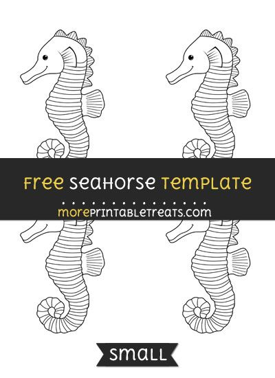 Free Seahorse Template Small Templates Printable Free Seahorse Templates