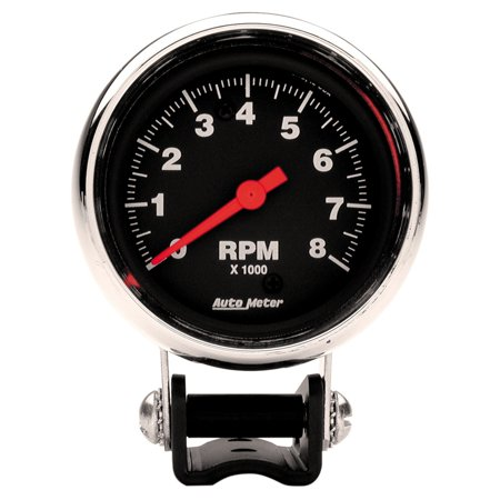 Autometer 2893 Traditional Chrome Tachometer 2 5 8 In Black