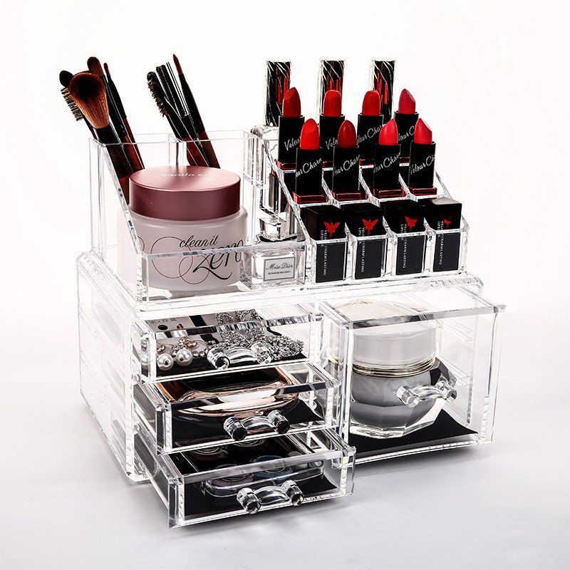 Tool Box Drawer Acrylic Makeup Organizer Jewelry Organizer Lipstick