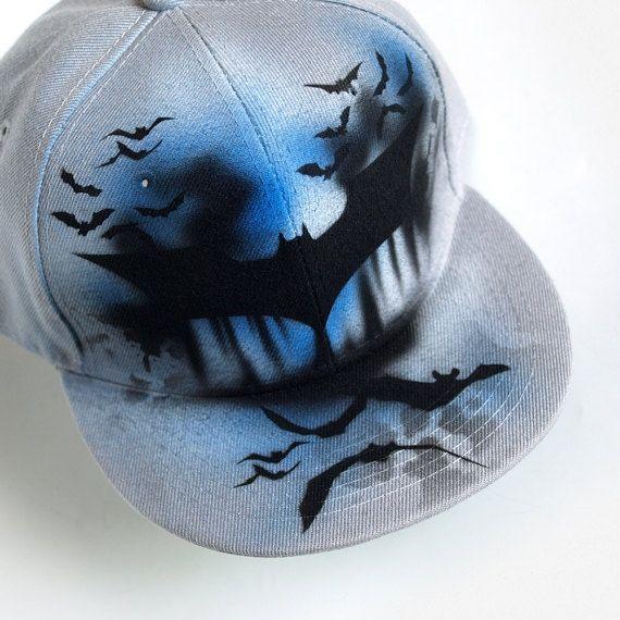 Gorra De Batman Maximas Planas Snapback Sombrero Graffiti Snapback Hats Men Painted Shoes Diy Painted Hats