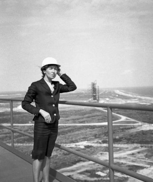 Oriana Fallaci  at Cape Kennedy