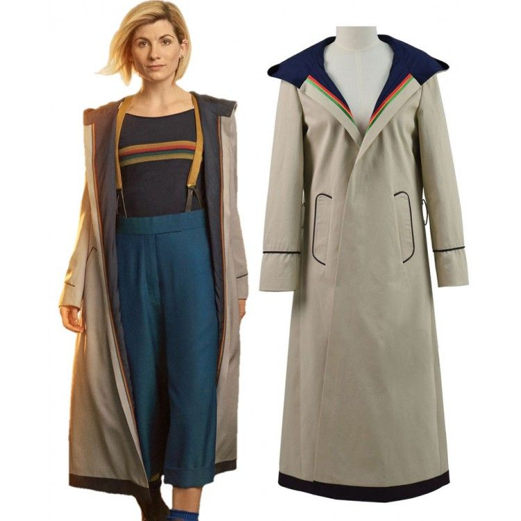 13th female Doctor who Cosplay Costume Coat 13th Doctor Jodie Cosplay Costume