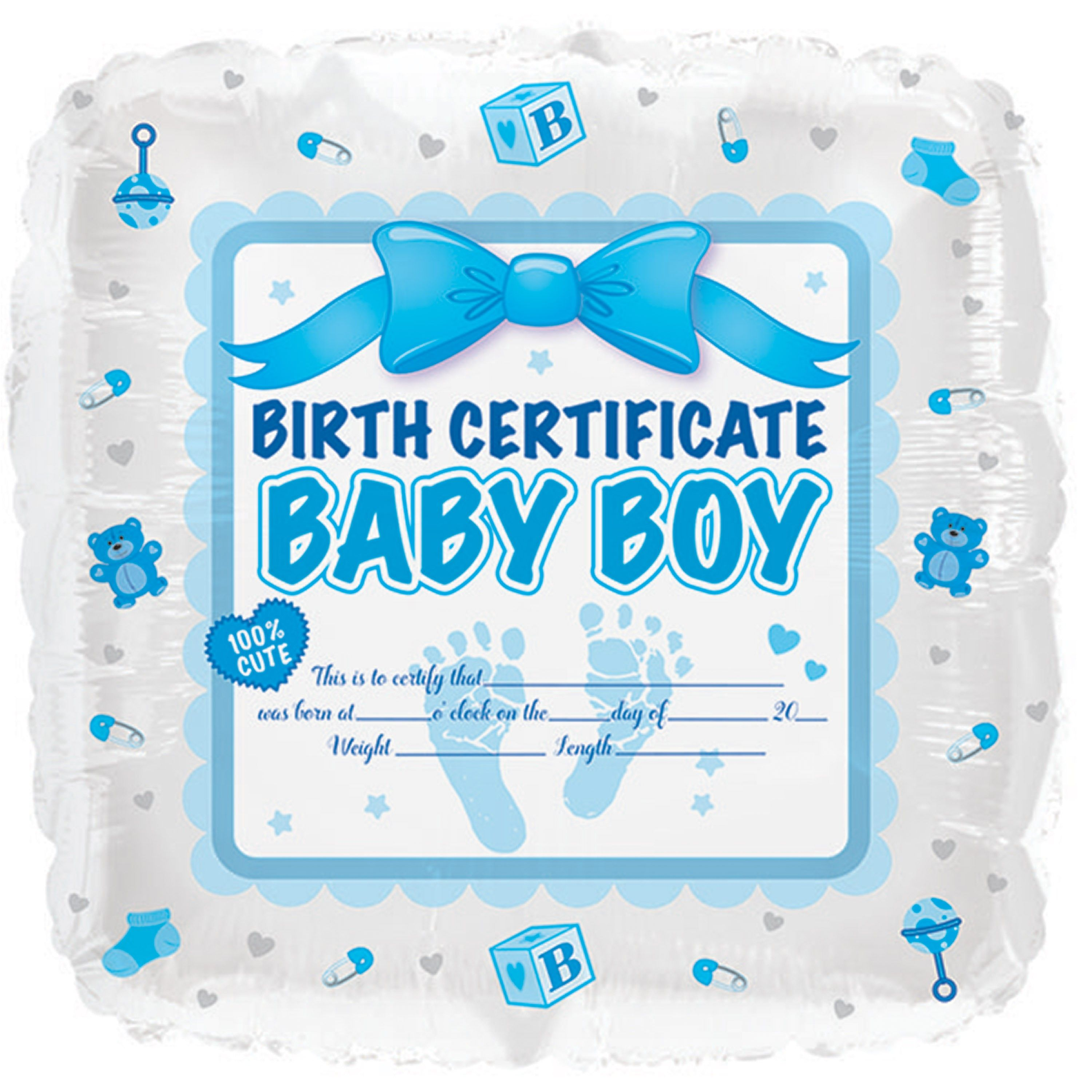 17 baby boy birth certificate foil ballooncase of 5 tags foil 17 baby boy birth certificate foil ballooncase of 5 tags foil balloon aiddatafo Choice Image