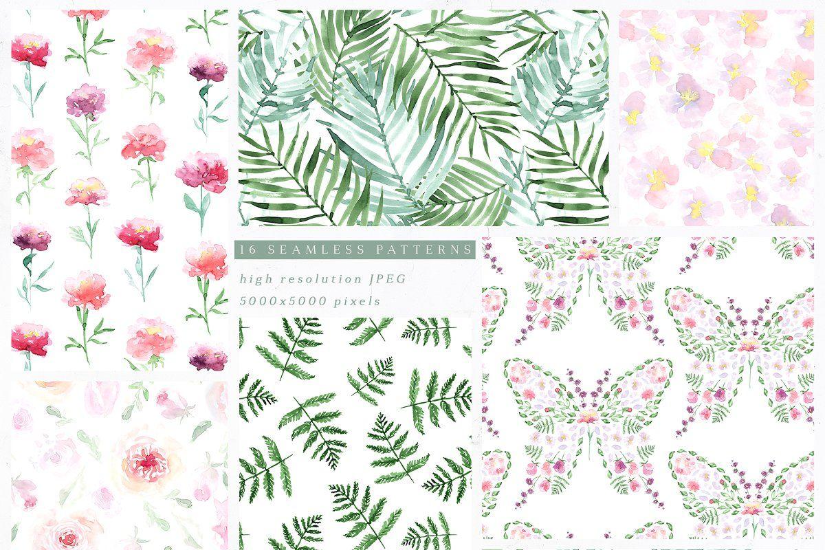 43 Watercolour Patterns Photoshop Patterns Textures