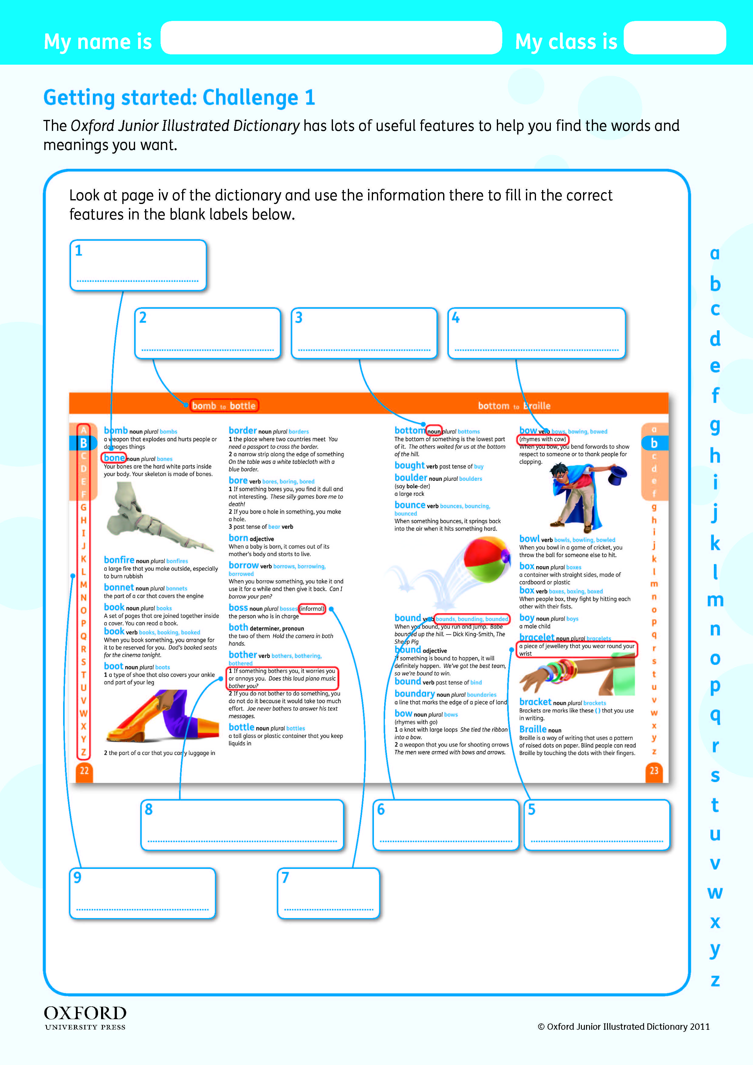Download Your Free Oxford Junior Illustrated Dictionary Challenge Worksheet Teach Children The Features Of A Dictionary Dictionary Teaching Education [ 3508 x 2481 Pixel ]