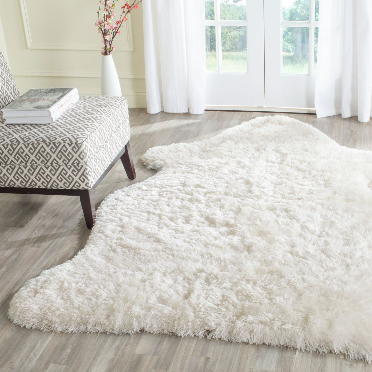 white shag rug in bedroom. Plush Ivory Shag Rug | Arctic Collection - Safavieh.com White In Bedroom