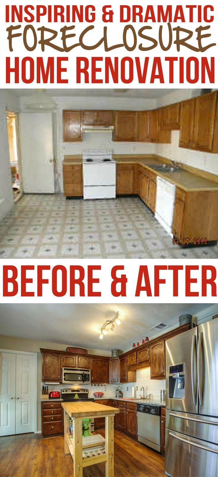 Forclosure Remodel: Before And After Images Of An Amazing Foreclosure Home