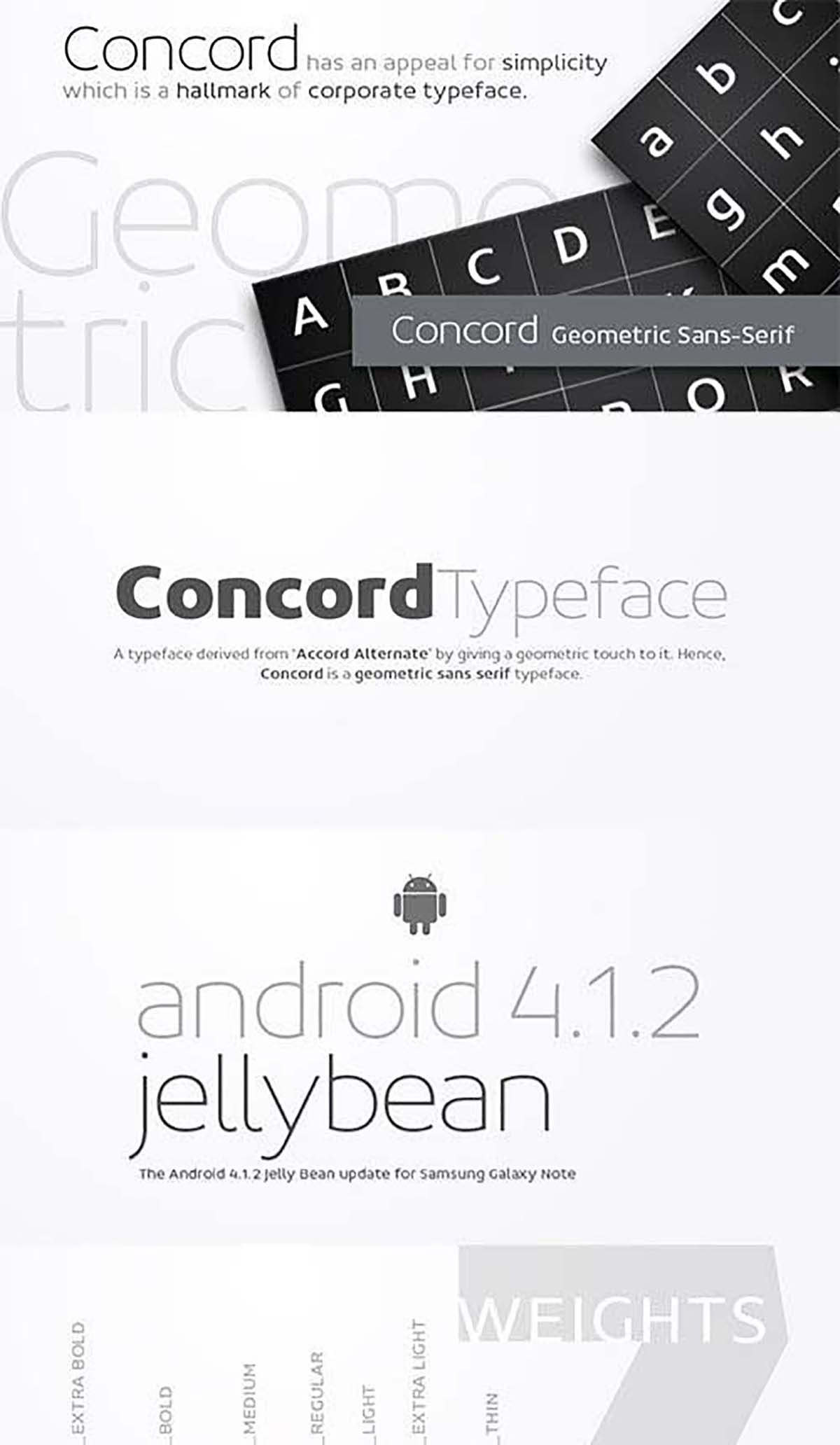Concord typeface set of fonts Free fonts download
