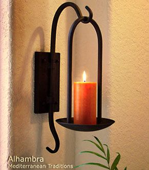 mediterranean candle holder for walls - Candle Wall Decor