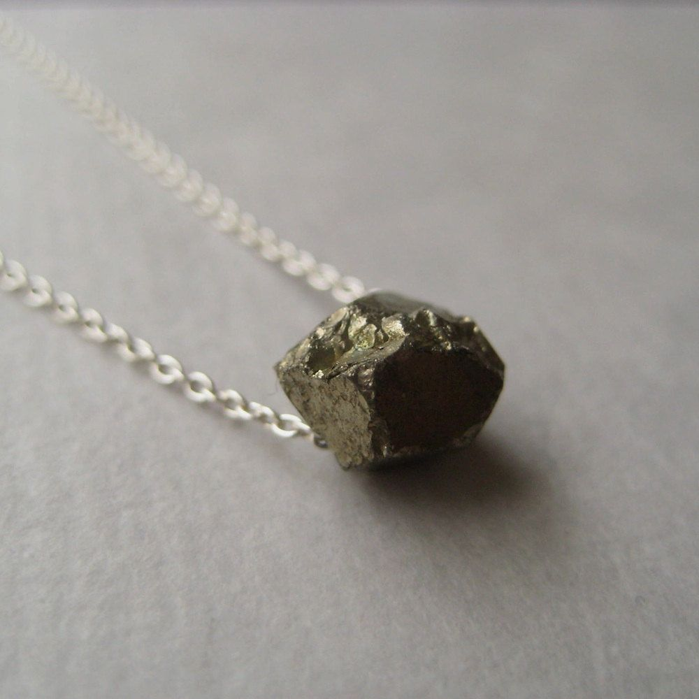 yes, please. pyrite necklace - simple & pretty. by juliegarland