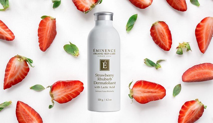 3 Reasons To Add Eminence Organics Strawberry Rhubarb Dermafoliant To Your Skin Care Routine Eminence Organic Skin Care Eminence Organics Strawberry Rhubarb