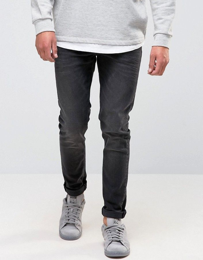 5a33f6bad4 Skinny Jeans In 12.5oz Washed Black in 2019