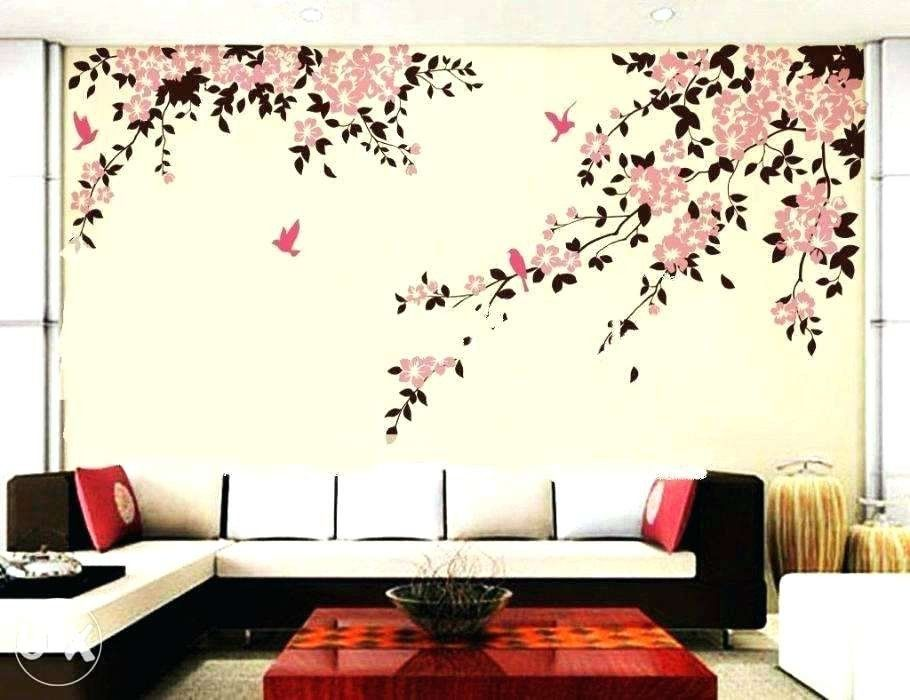 Interior Wall Painting Ideas For Living Room Wall Painting Designs Ideas Flowers Primerugbyfo Wall Paint Designs Interior Wall Design Bedroom Wall Paint