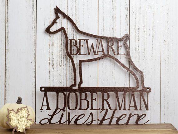 Dobermann Metal Wall Art Decor