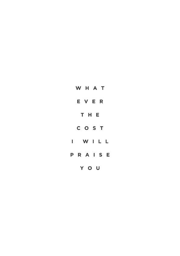 What ever the cost