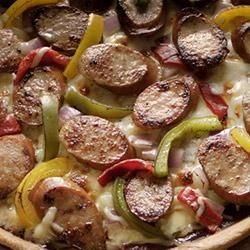 Barbecue Smoked Sausage Pizza Allrecipes.com  #SausageAllstars