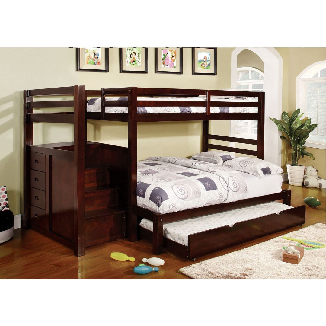 Twin over full loft bed with stairs  This cool space saving Twin over Twin  Twin over Full bunk bed