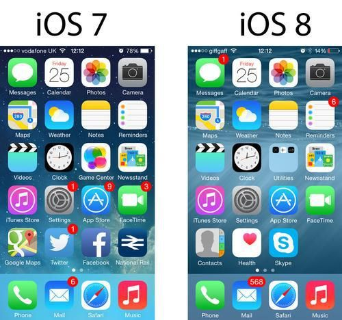 How to turn iOS 7 to iOS 8 using Cydia jailbreak tweaks
